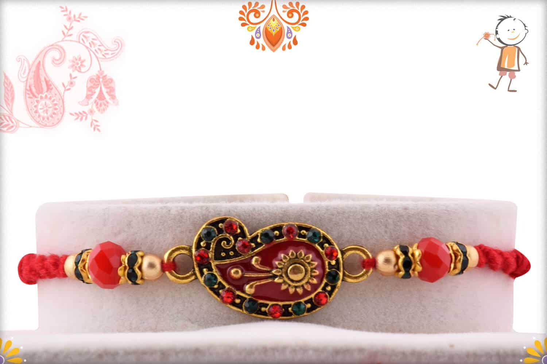Beautiful Paisley Design Rakhi | Send Rakhi Gifts Online 1