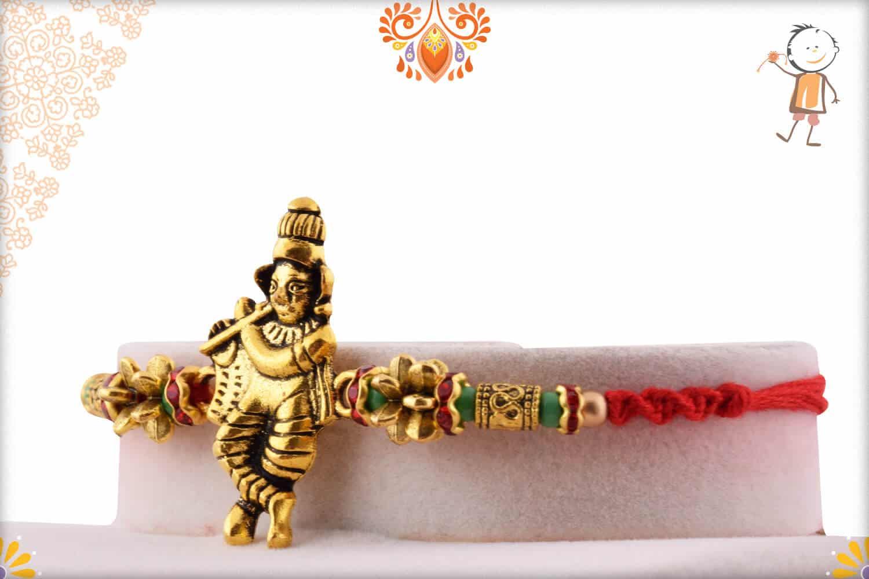 Beautiful Murlimanohar Rakhi with Designer Beads 2