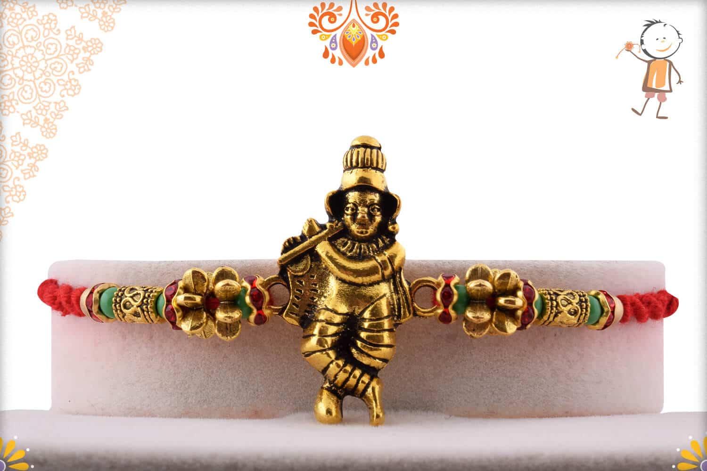 Beautiful Murlimanohar Rakhi with Designer Beads 1