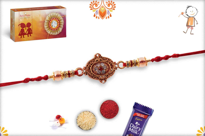Unique Diamond Rakhi with Beads   Send Rakhi Gifts Online 2