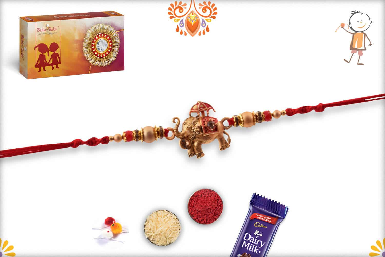 Exclusive Airavat Elephant Rakhi | Send Rakhi Gifts Online 2