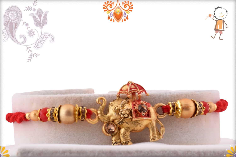 Exclusive Airavat Elephant Rakhi | Send Rakhi Gifts Online 1