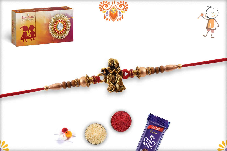 Exclusive Radha-Krishna Rakhi with Beads | Send Rakhi Gifts Online 2