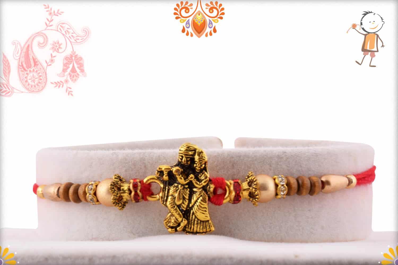 Exclusive Radha-Krishna Rakhi with Beads | Send Rakhi Gifts Online 1