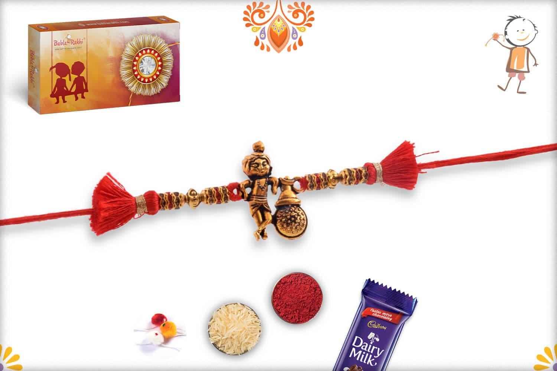 Natkhat Golden Krishna Rakhi   Send Rakhi Gifts Online 3