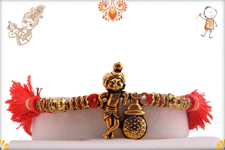 Natkhat Golden Krishna Rakhi   Send Rakhi Gifts Online 1