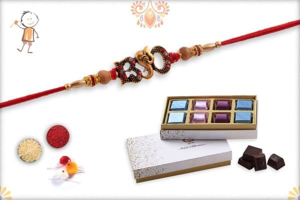 Rakhi with Kandoi Special Chocolate (6 piece) - Babla Rakhi