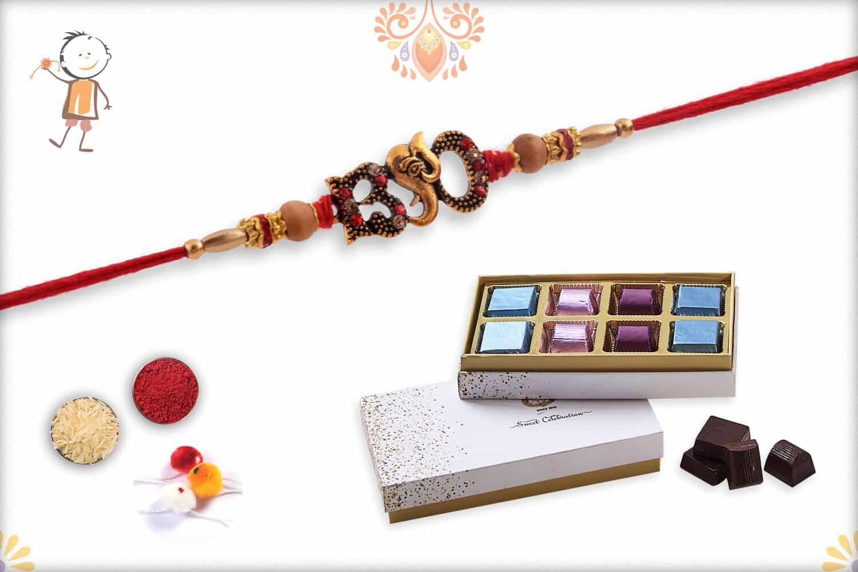 Rakhi with Kandoi Special Chocolate (6 piece) - Babla Rakhi