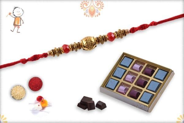 Rakhi with Kandoi Special Chocolate (12 piece) - Babla Rakhi