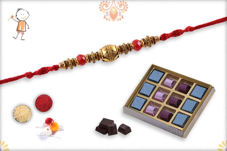 Rakhi with Kandoi Special Chocolate (12 piece) - Babla Rakhi