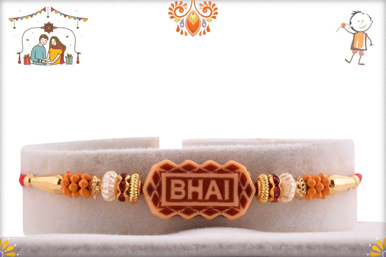 Designer Bhai Rakhi with Beads 1