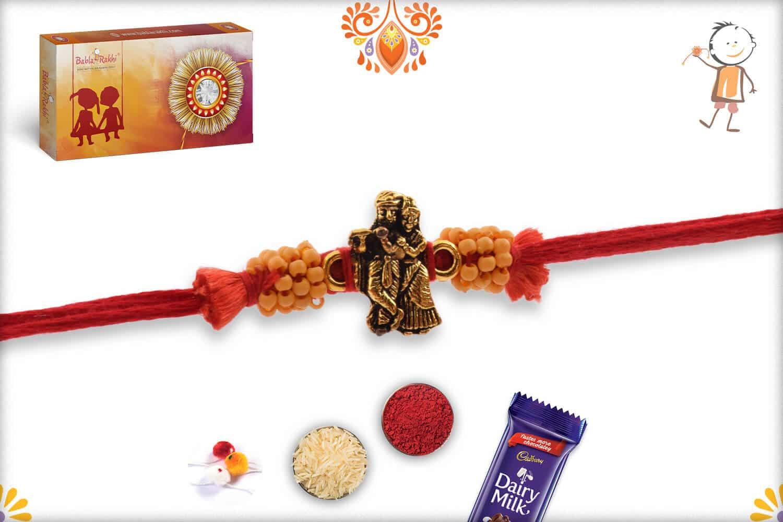 Beautiful Antique Radha-Krishna Rakhi 1