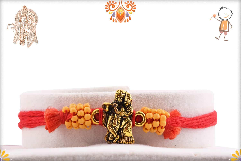 Beautiful Antique Radha-Krishna Rakhi 2