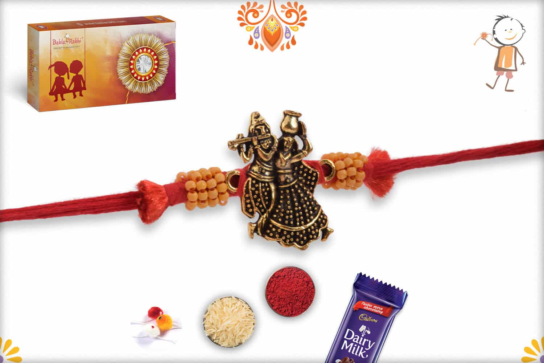 Uniquely Knotted Radha-Krishna Rakhi | Send Rakhi Gifts Online 2