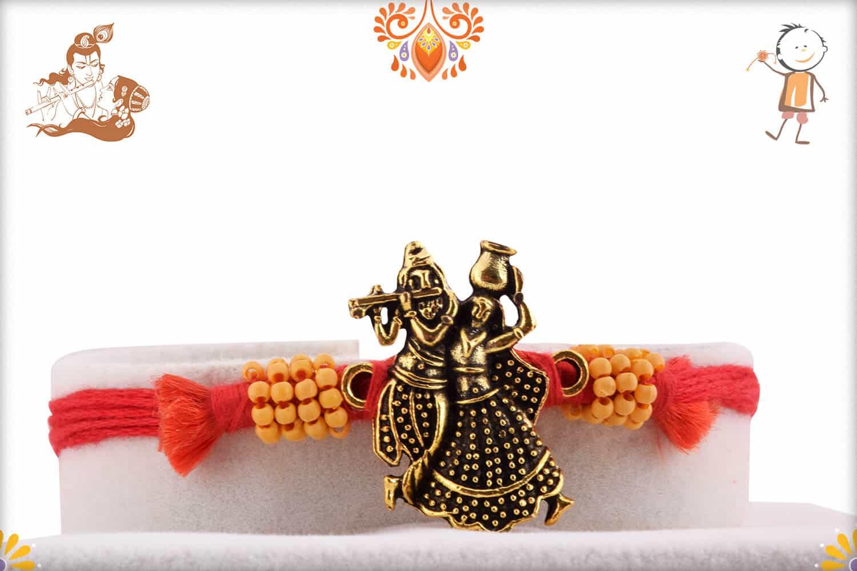 Uniquely Knotted Radha-Krishna Rakhi | Send Rakhi Gifts Online 1