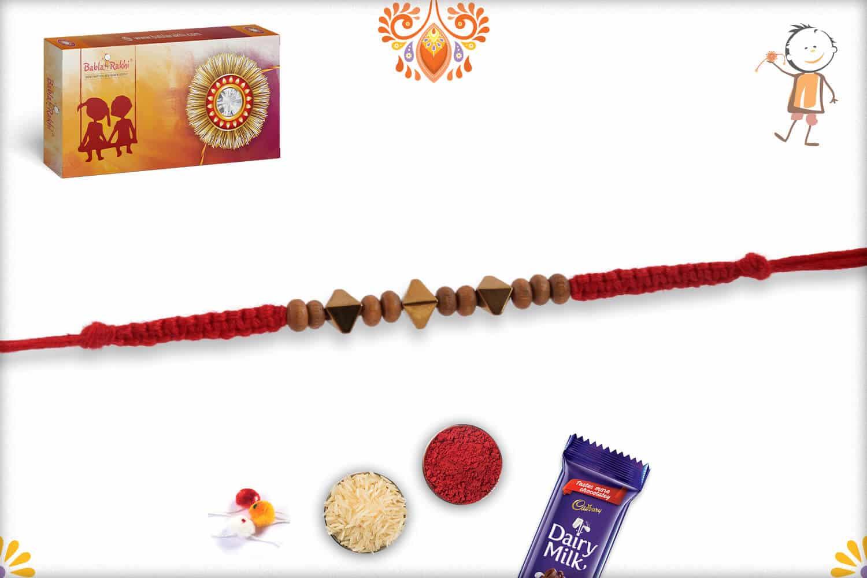 Rhombus Shape Beads Rakhi 2