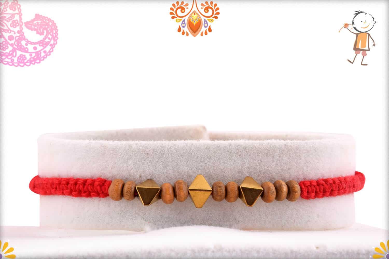 Rhombus Shape Beads Rakhi 1