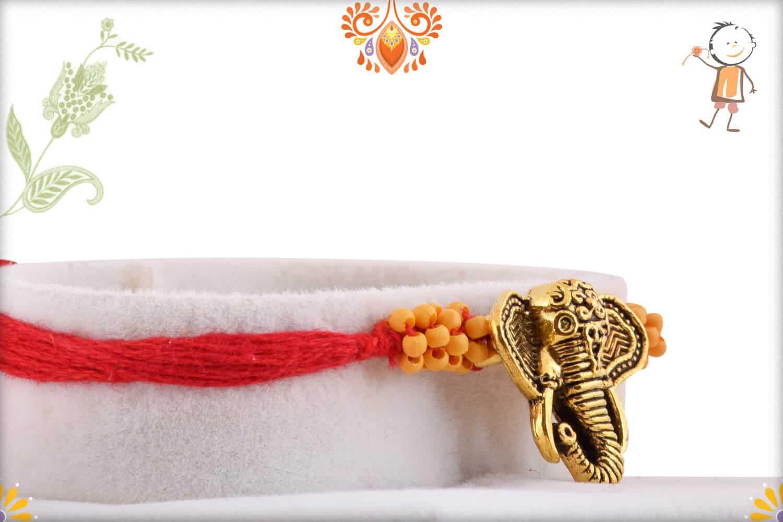 Uniquely Knotted Ganapati Rakhi 2