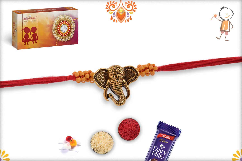 Uniquely Knotted Ganapati Rakhi 3