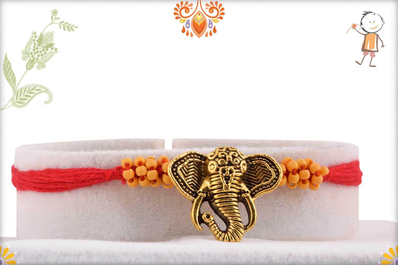 Uniquely Knotted Ganapati Rakhi 1