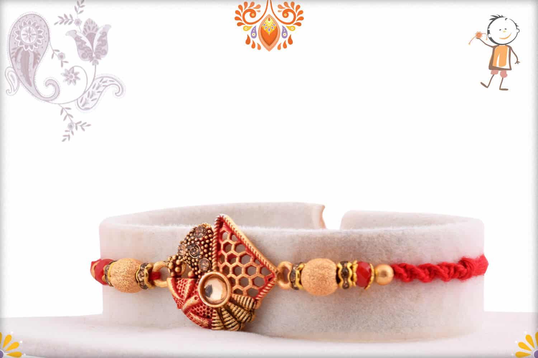 Premium Designer Rakhi with Beads | Send Rakhi Gifts Online 2