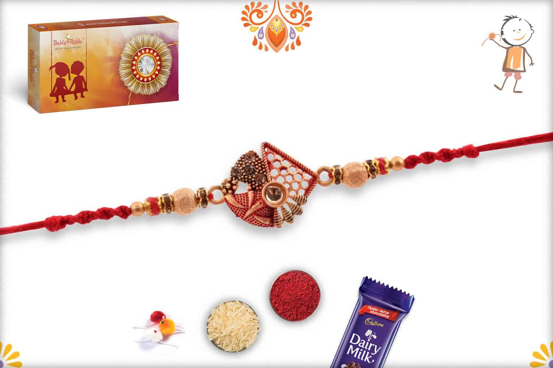 Premium Designer Rakhi with Beads | Send Rakhi Gifts Online 3