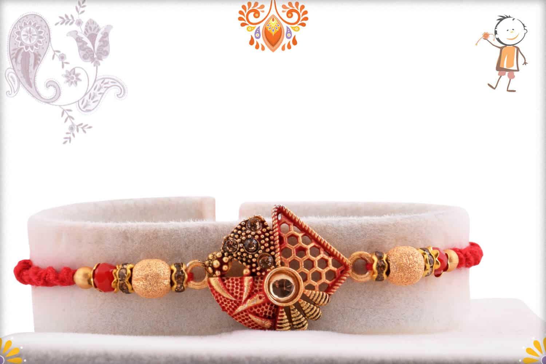 Premium Designer Rakhi with Beads | Send Rakhi Gifts Online 1