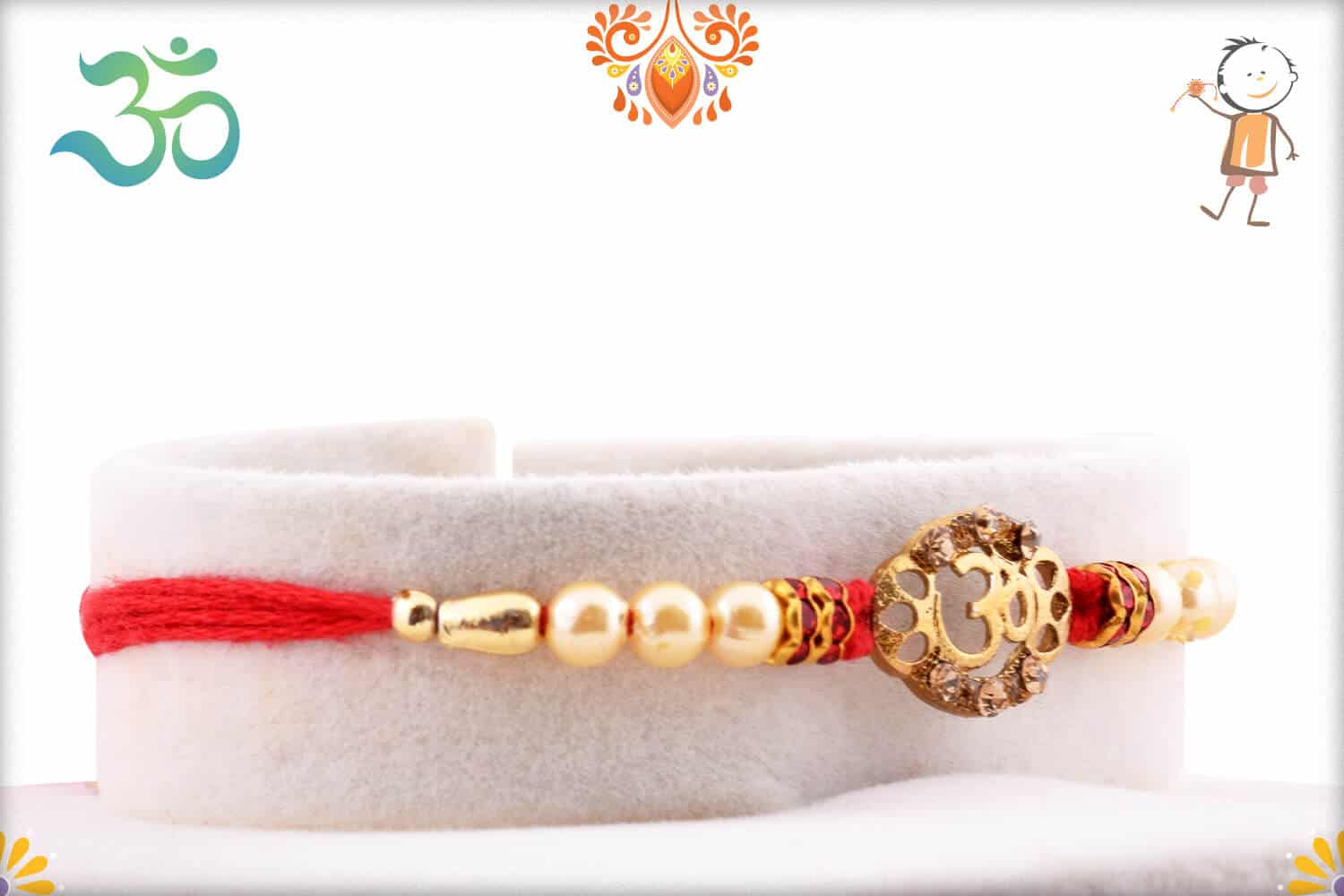 OM with Pearls Rakhi 2