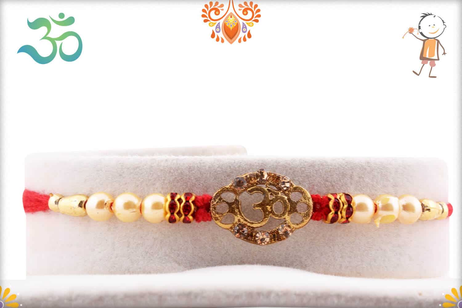 OM with Pearls Rakhi 1