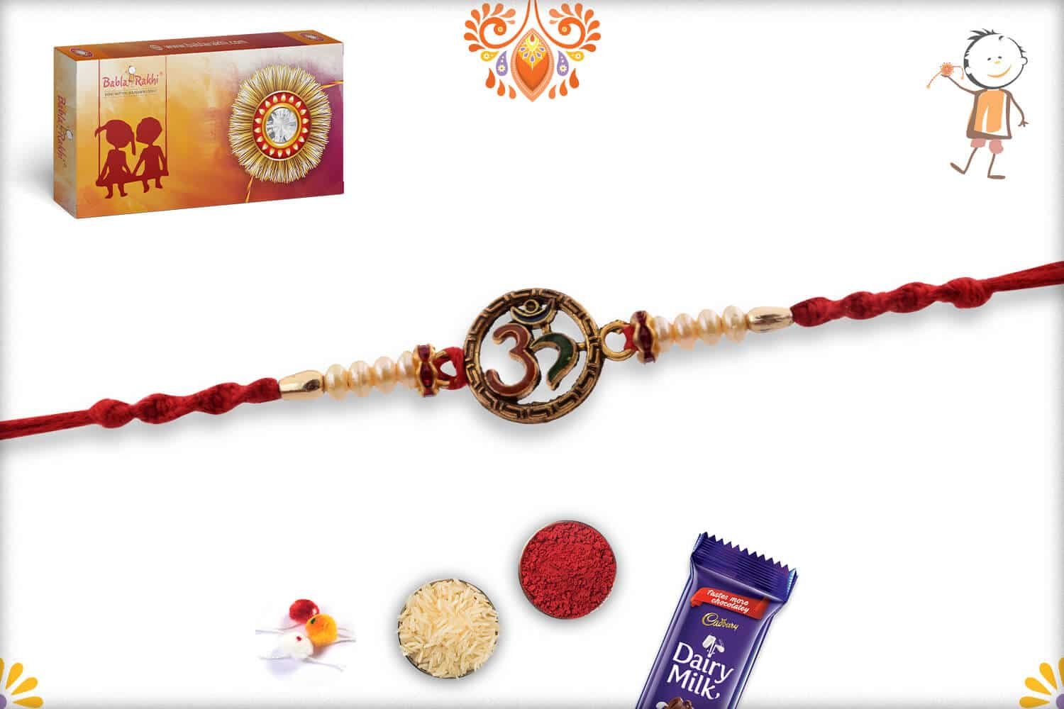 Meenakari OM with Preals Rakhi 3