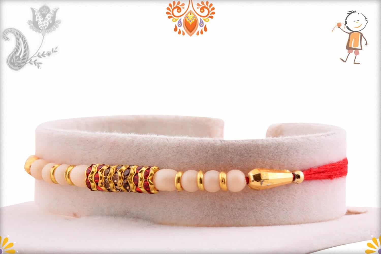 Royal Pearl with Shining Diamond Rakhi | Send Rakhi Gifts Online 2