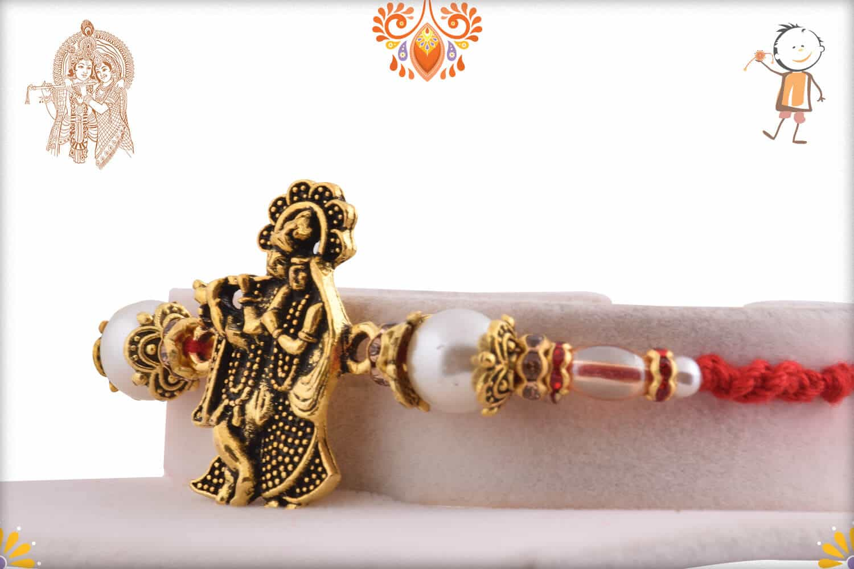Devine Radha-Krishna Rakhi with Beautiful Pearls 2
