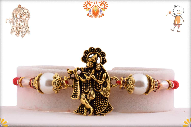 Devine Radha-Krishna Rakhi with Beautiful Pearls 1