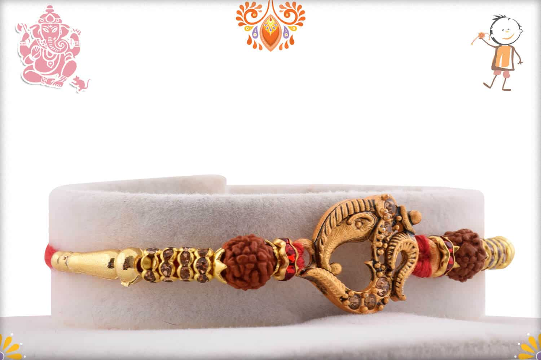 Beautiful Ganeshji with OM Rudraksh Rakhi 2