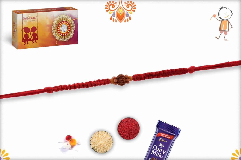 Elegant Rudraksh Rakhi with Beautifully Handcrafted Thread 2
