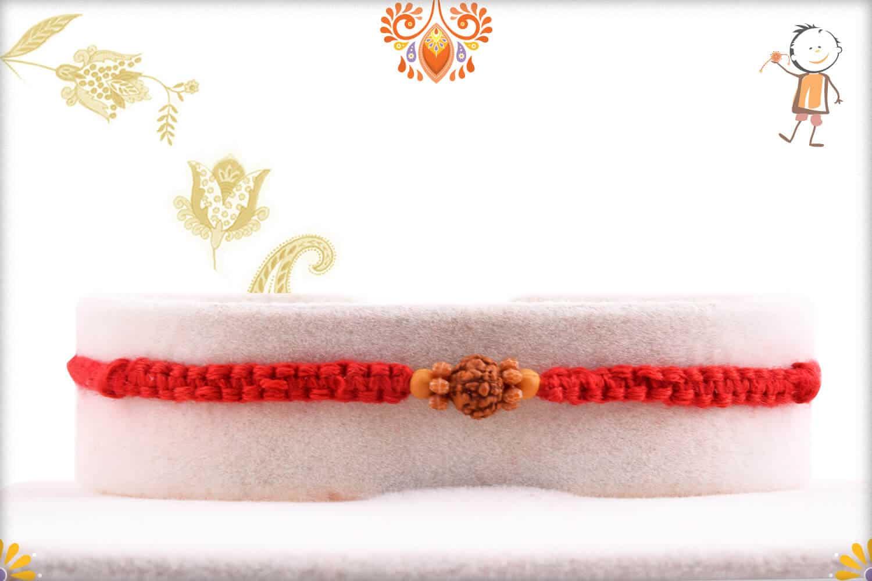 Elegant Rudraksh Rakhi with Beautifully Handcrafted Thread | Send Rakhi Gifts Online 1