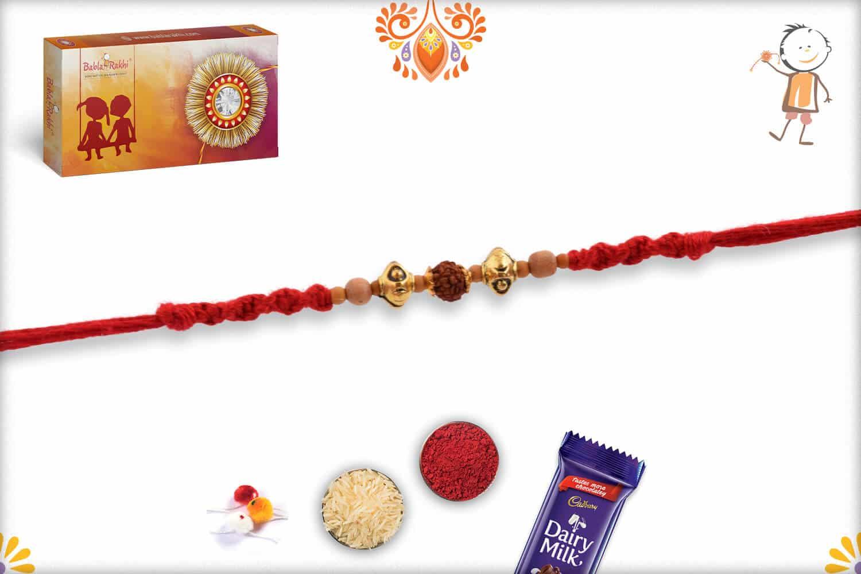 Stylish Rudraksh Rakhi with Unique Beads   Send Rakhi Gifts Online 2