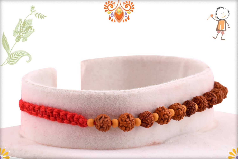 Auspicious 11 Rudraksh Rakhi with Beautifully Handcrafted Thread | Send Rakhi Gifts Online 2