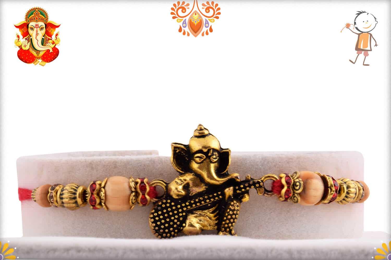 Beautiful Ganeshji with Veena Rakhi | Send Rakhi Gifts Online 1