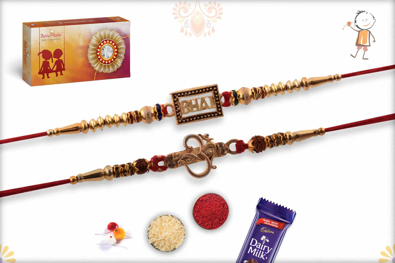 Two Set Rakhi with Ferrero Rocher (16) | Send Rakhi Gifts Online 1