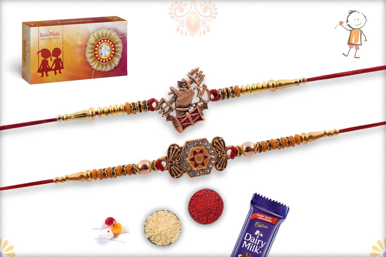 Two Set Rakhi with Cadbury Celebrations (Big) | Send Rakhi Gifts Online 1
