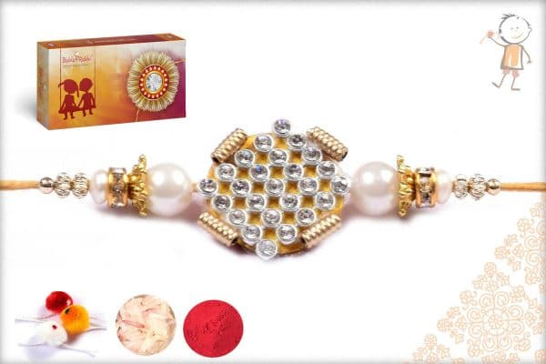 Traditional Pearl Rakhi