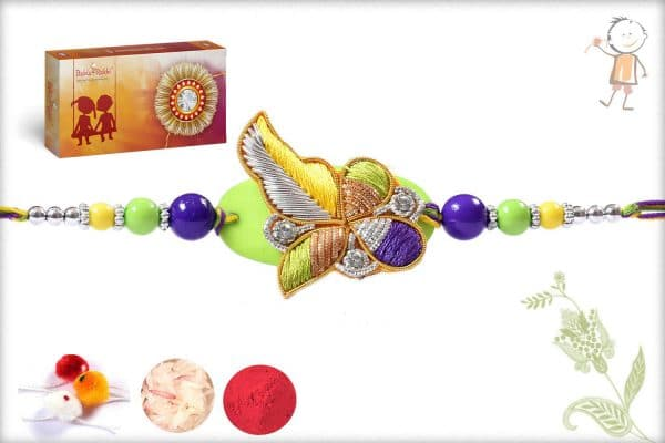 Multicolor Design Zardosi Rakhi