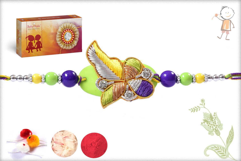 Multicolor Design Zardosi Rakhi