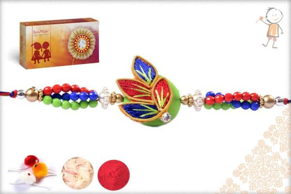 Traditional Muliticolor Zardosi Rakhi