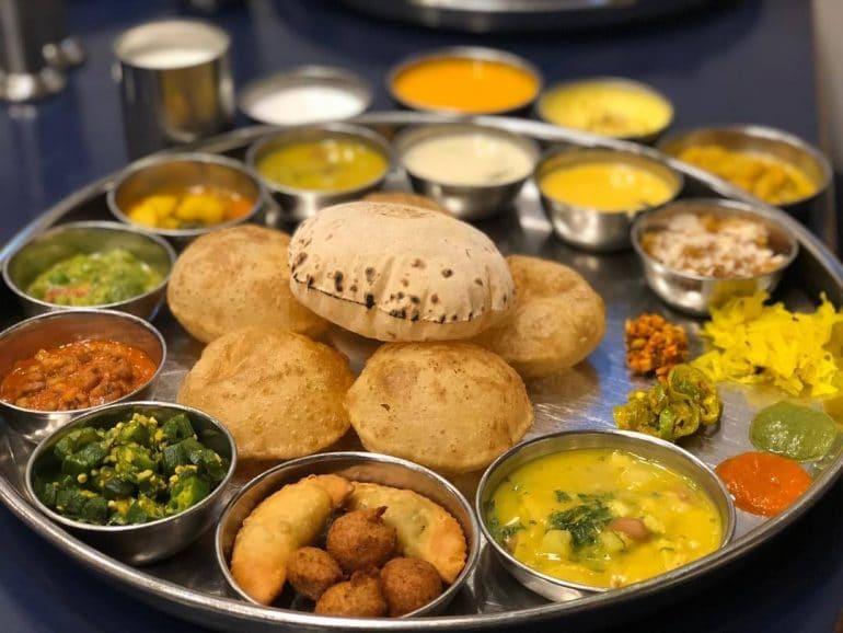 Gujarti thali on Raksha Bandhan day