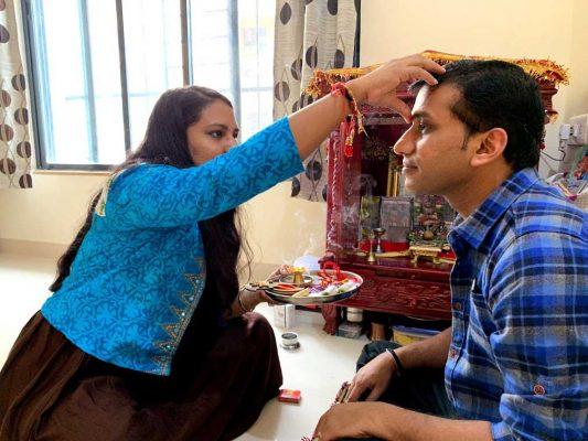 Raksha Bandhan celebration in Gujarati culture