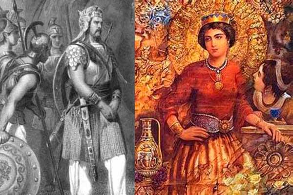 Roxana and King Porus - Raksha Bandhan