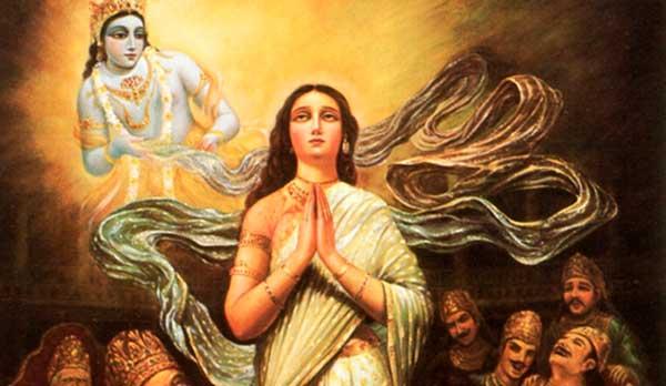 The story of Lord Krishna and Draupadi