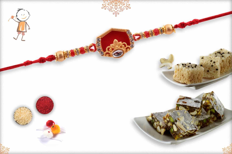 Rakhi with Dates Date & Kaju Maisur | Send Rakhi Gifts Online 1